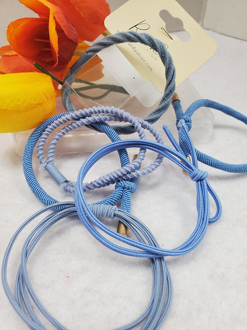 Blue Mixed stretch Ponytail set