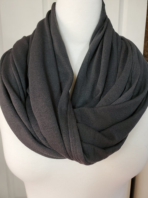 Ash Gray Convertible Snap Scarf