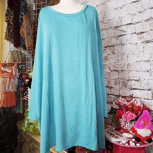 Ash Mint Oversized-Light weight sweater tunic
