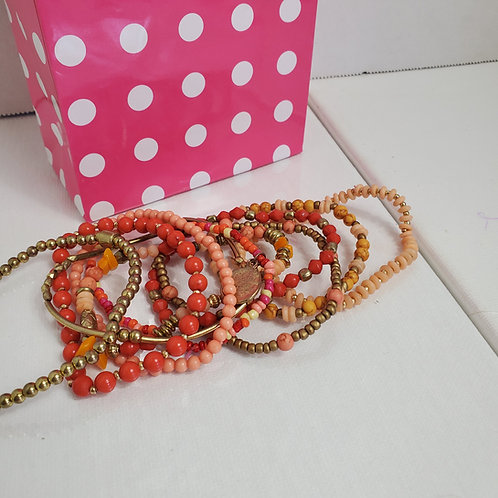 Set of 10 Stretchy Bracelets-Can be worn together or separately