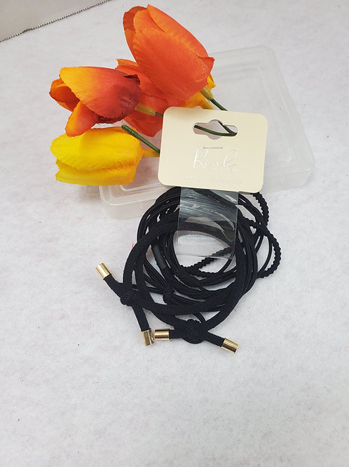Black Mixed stretch Ponytail set