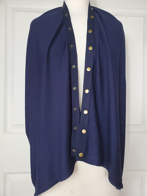 Navy Convertible Snap Scarf