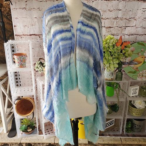 Dip Dye mint/navy Kimono