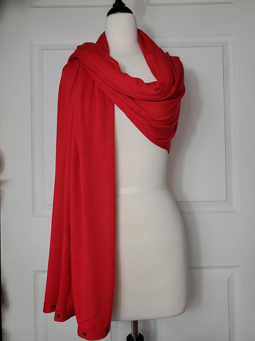 Red Convertible Snap Scarf