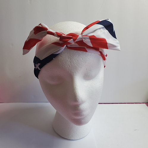 Patriotic Red, White and Blue Wire-wrapped Head