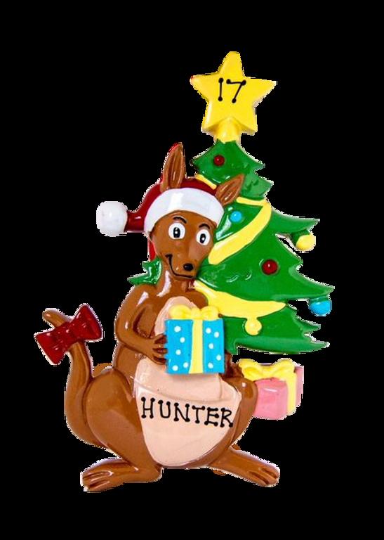 Christmas Kangaroo Cartoon.Christmas Kangaroo