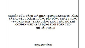 Thông tin về luận án tiến sĩ của Nghiên cứu sinh Nguyễn Minh Quý