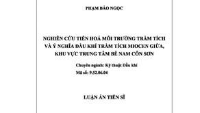 Thông tin luận án tiến sĩ của nghiên cứu sinh Phạm Bảo Ngọc