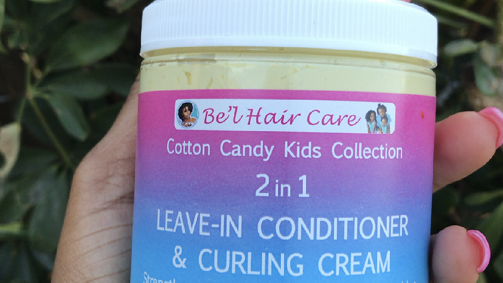 Cotton Candy Kids Collection ( 2 in 1- Curling Cream/Leave in Conditioner) 8 oz
