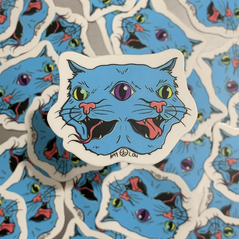TWO FACED STICKERS