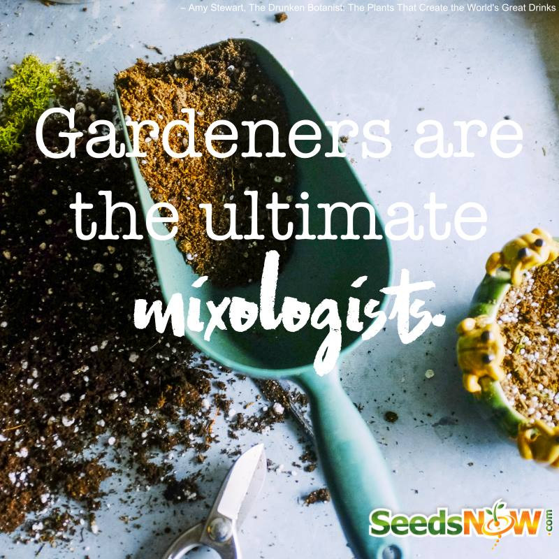 Gardeners are the Ultimate mixologist