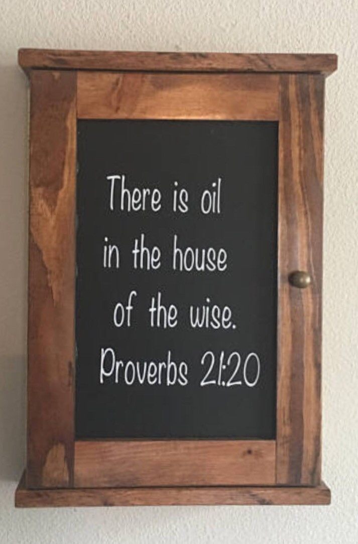 Oil in the house of the wise, proverbs 21:10
