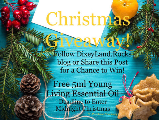 Enter to Win 5ml Young Living Essential Oil Christmas Giveaway