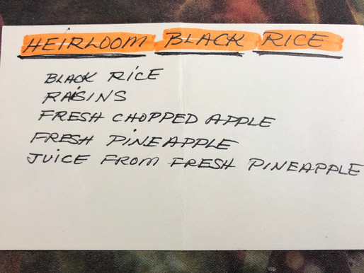 Heirloom Wild Rice Recipe