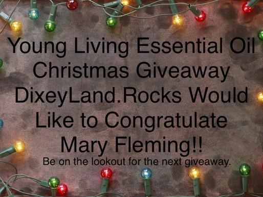 Essential Oil Christmas Giveaway Winner, Mary Fleming