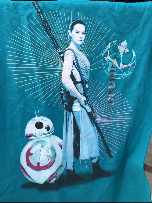 Disney Store: Womens M Star Wars Force Awakens Movie T-Shirt 100% Organic Cotton