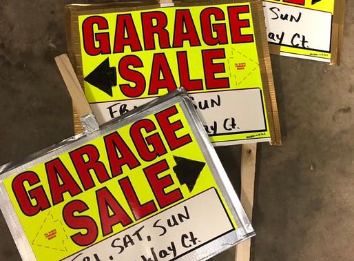 Garage Sale Fri 21, Sat 22, Sun 23