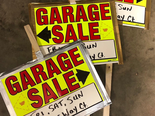 Garage Sale Fri 21, Sat 22, Sun 23
