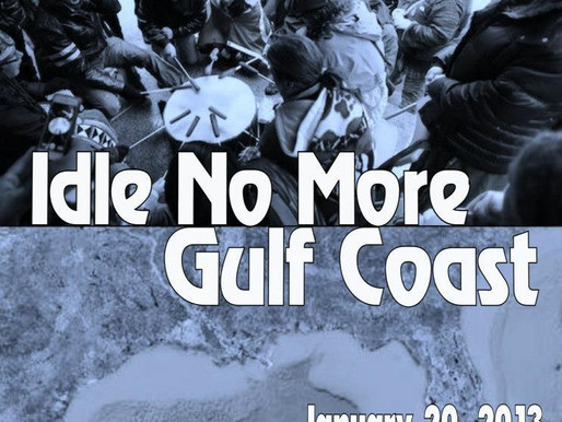 Idle No More, Gulf Coast, New Orleans, LA, January 20, 2013