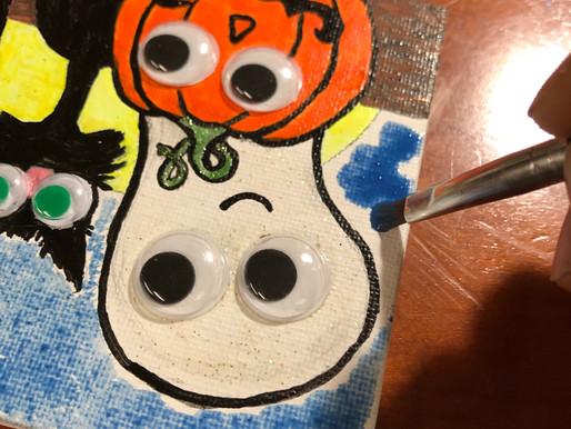 DIY, Decor, Tiny Halloween Painting