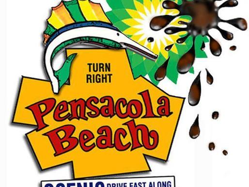 Pensacola Beach Sign, Thanks BP!