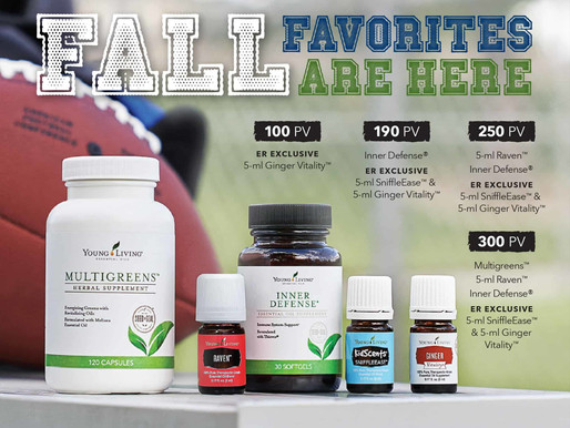 Kick off! September's Young Living Essential Rewards PV promo!