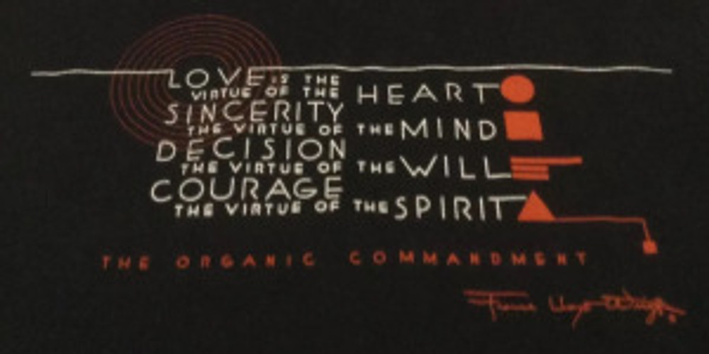 FLW The Organic Commandment