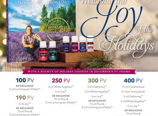 Joy of the Holidays with Young Living December Promo's
