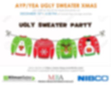 Flyer - YEA&AYP Ugly Sweater Xmas Party.