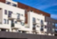 Gebäude nahe beieinander
