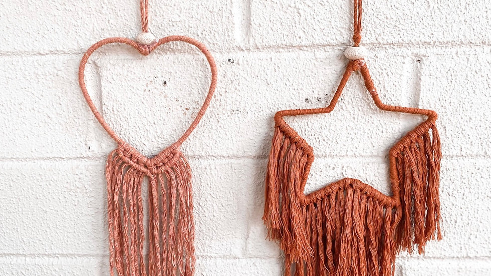 Mini- Macrame dream catchers
