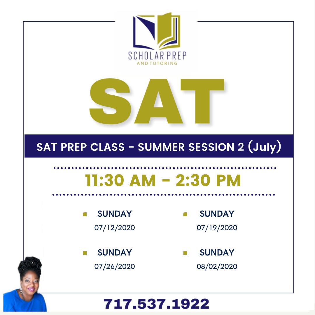 SAT PREP CLASS SUMMER SESSION II