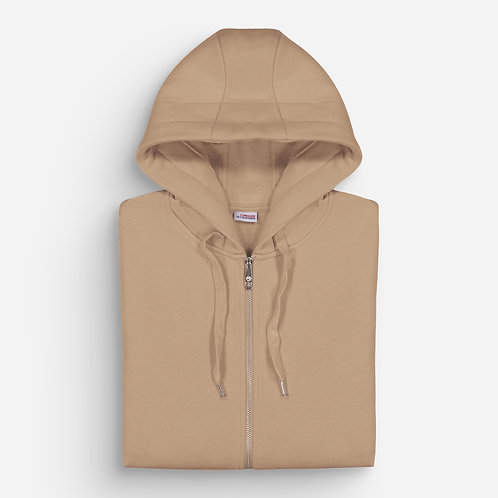 NEW CUPERTINO HOODIE ZIP TAUPE - FRENCH TERRY