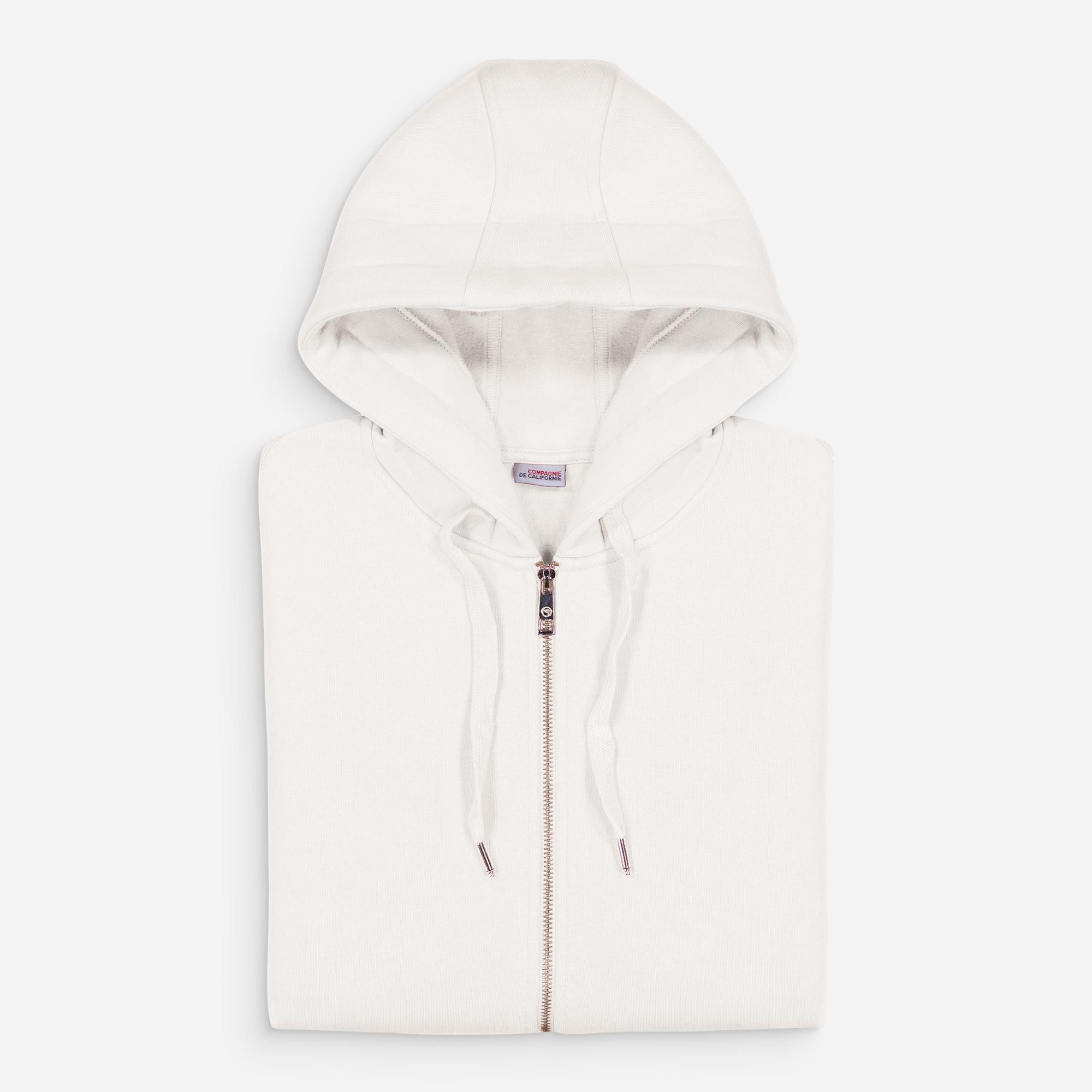 new cupertino hoodie zip blanc