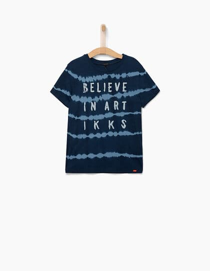 IKKS-TEE_SHIRT INDIGO BELIEVE IN ART GAR