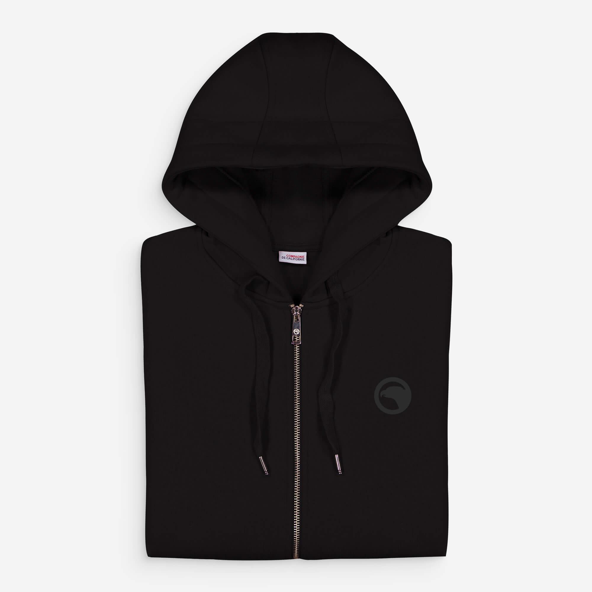 hoodie zip noir eagle