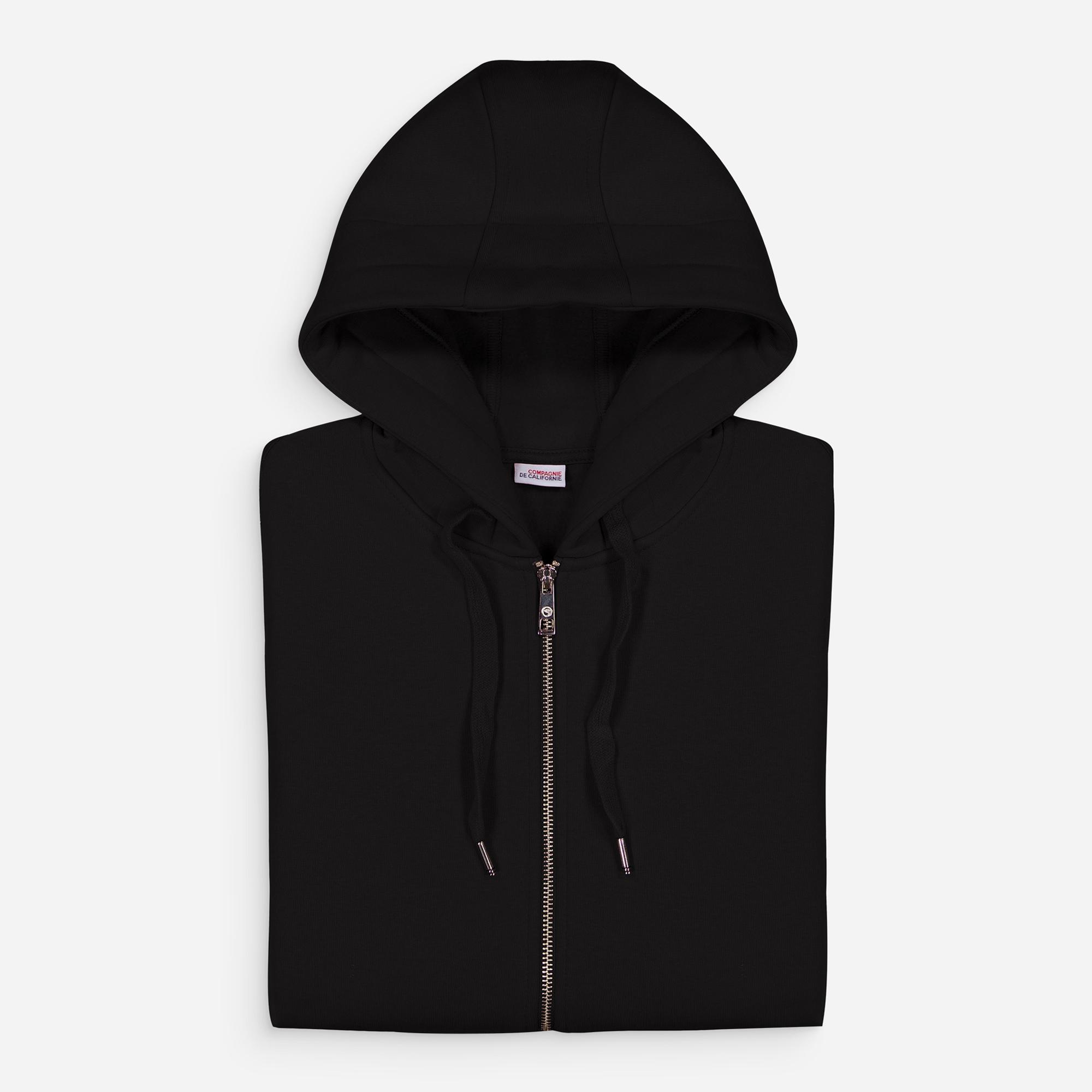 new cupertino hoodie zip black