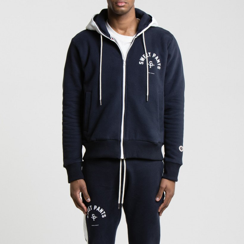 TWICE ZIP UP NAVY WHITE AD