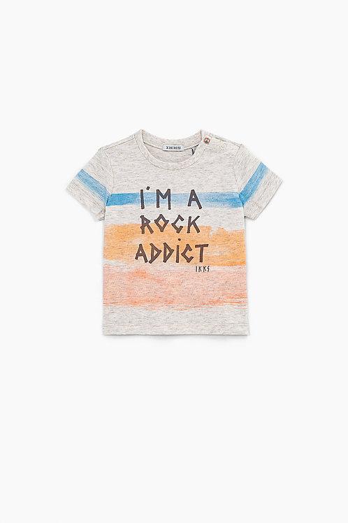 Tee-shirt sable rayures couleur coton bio bébé garçon
