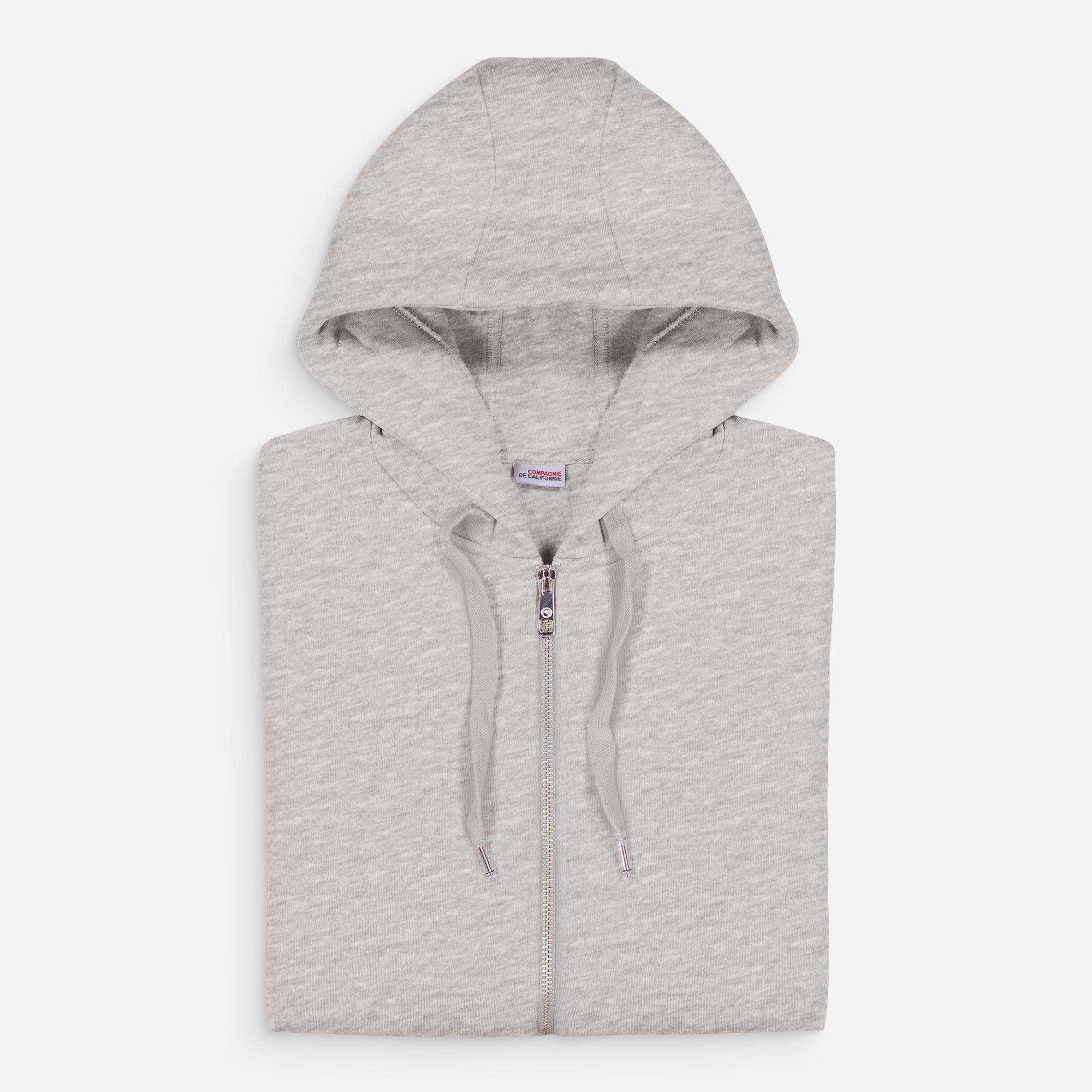 new cupertino hoodie zip heather grey