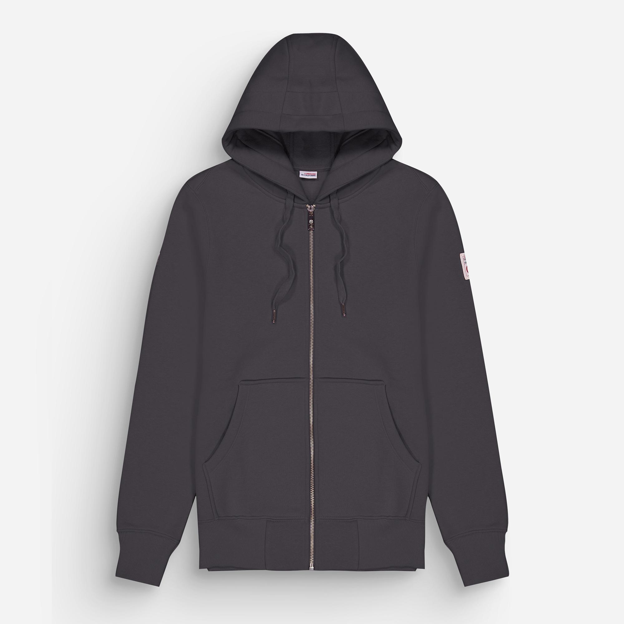new cupertino hoodie zip anthracite 1
