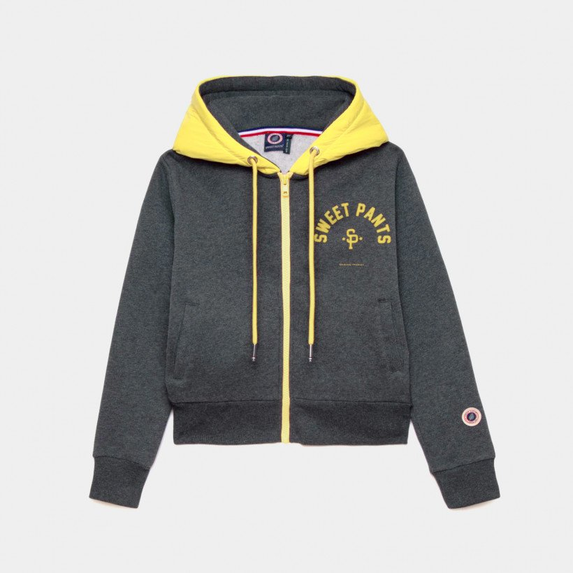 TWICE ZIP UP BLACK MARL GOLD