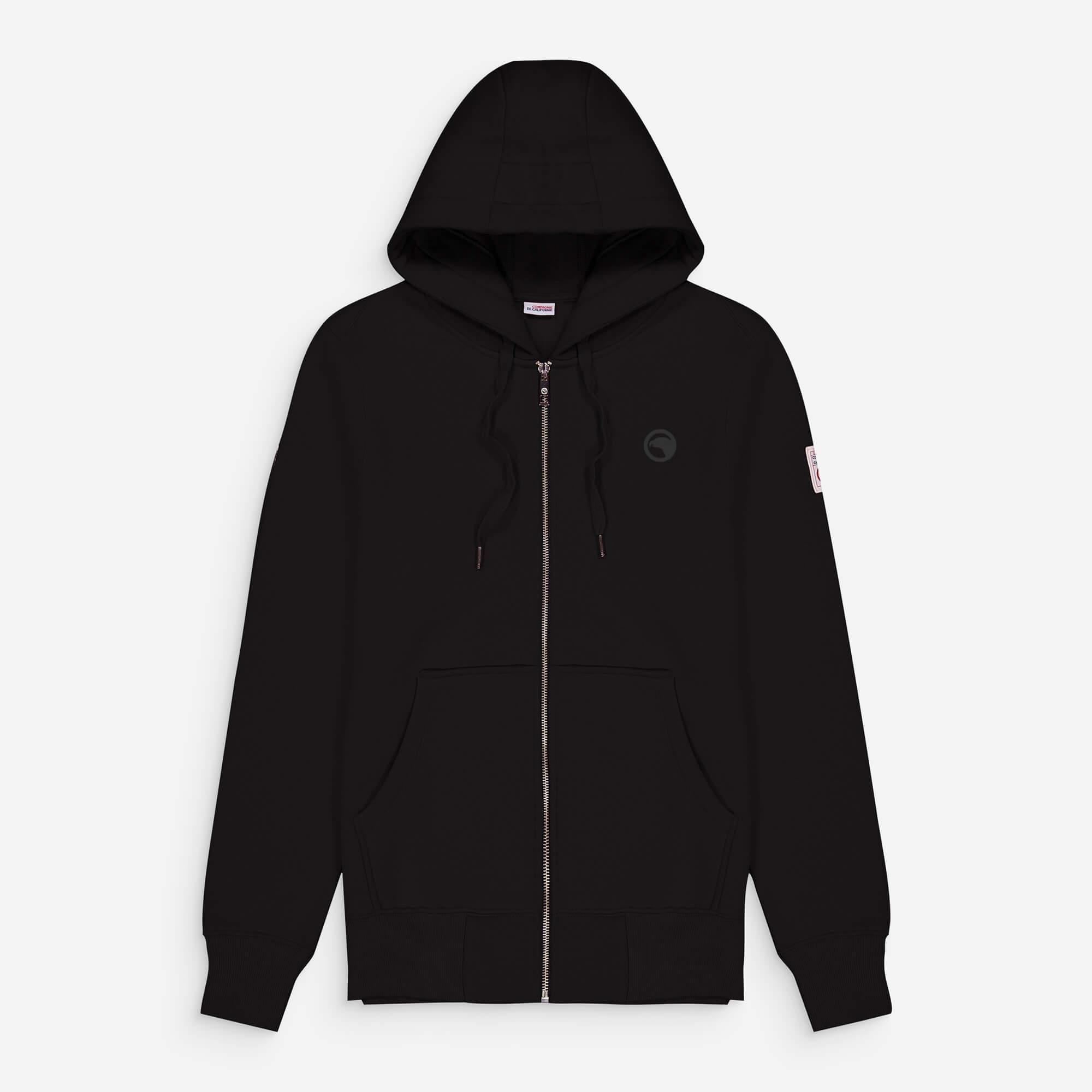 hoodie zip noir eagle 2