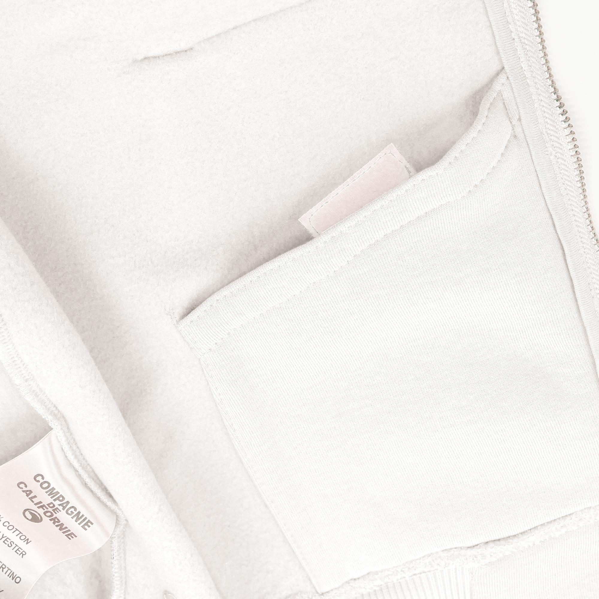 new cupertino hoodie zip blanc 3