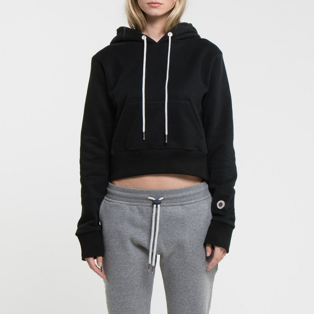 CROP HOOD BLACK AD