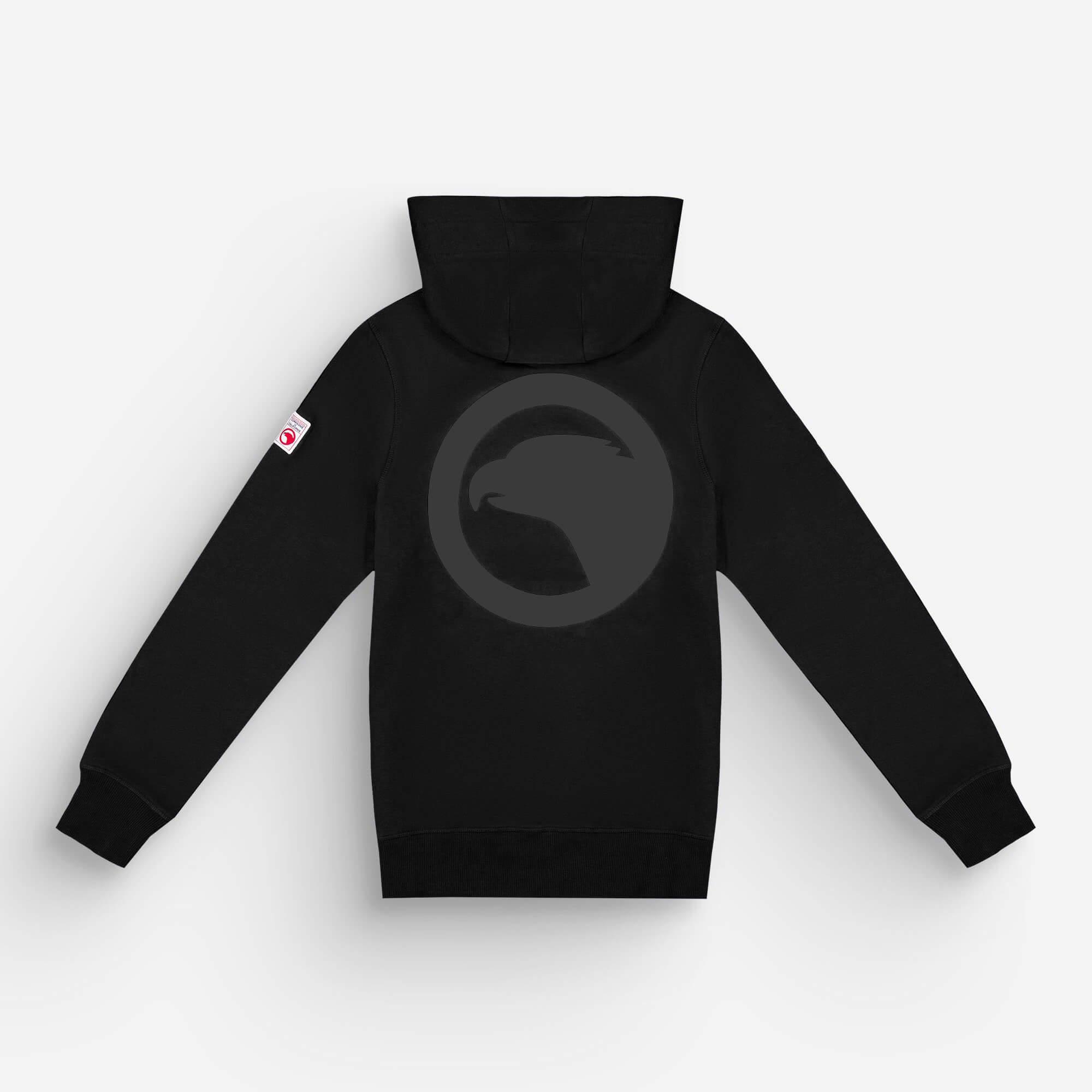 hoodie zip noir eagle 1