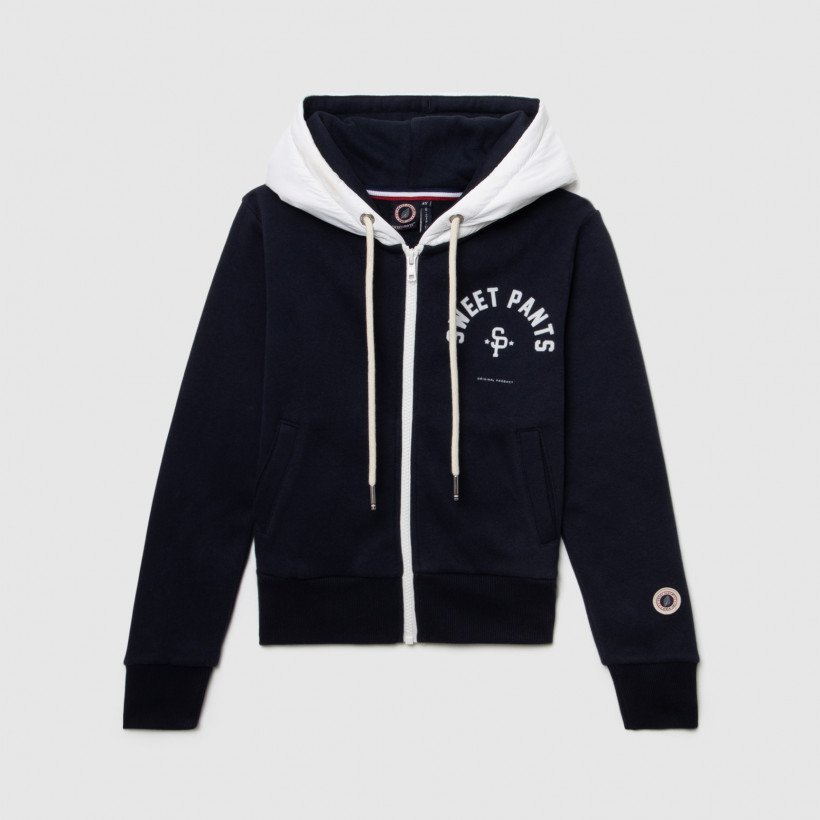 TWICE ZIP UP NAVY WHITE