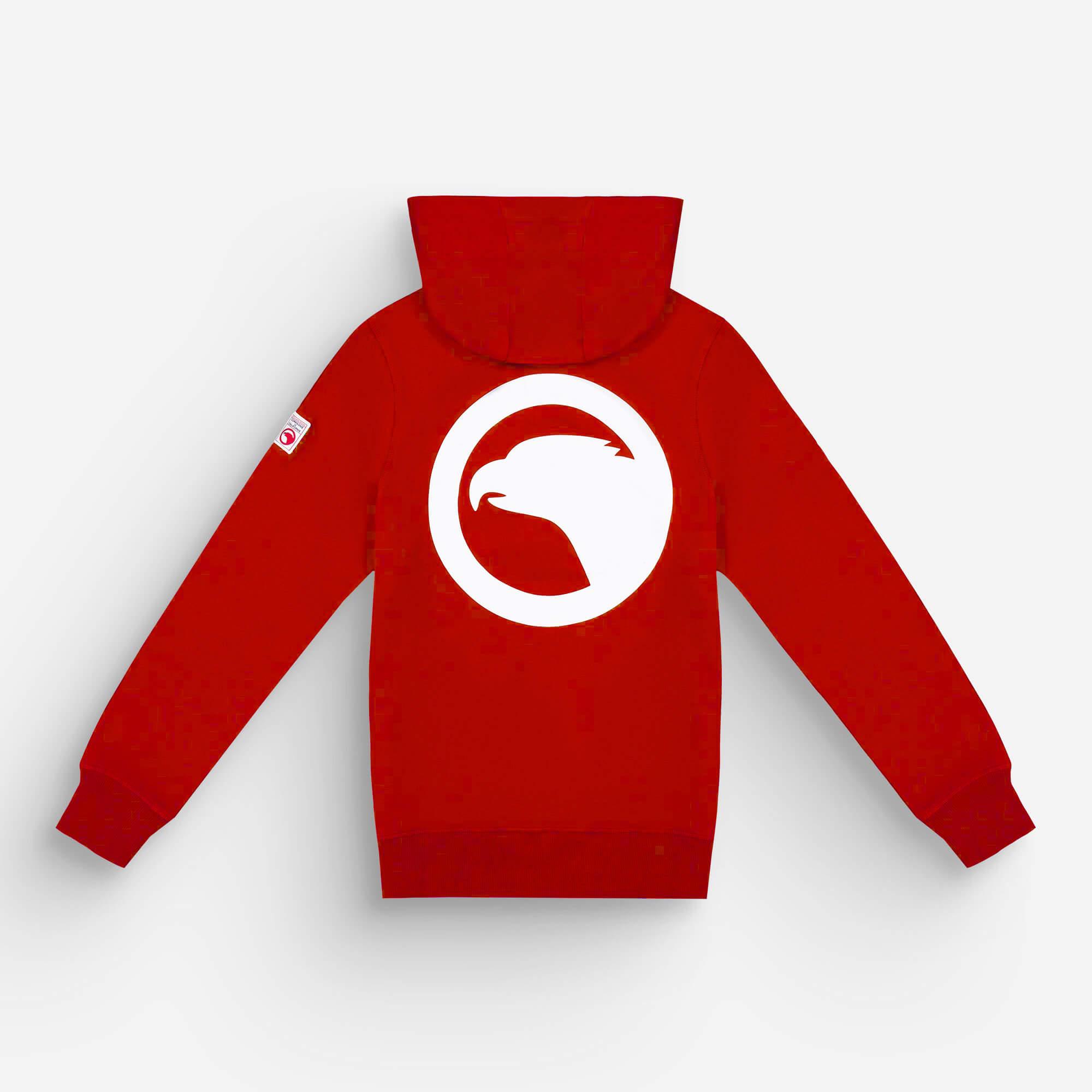 hoodie zip rouge eagle 1