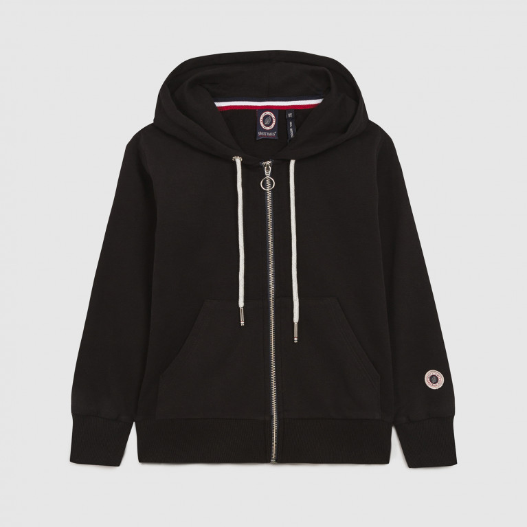 zip up hood black ou navy