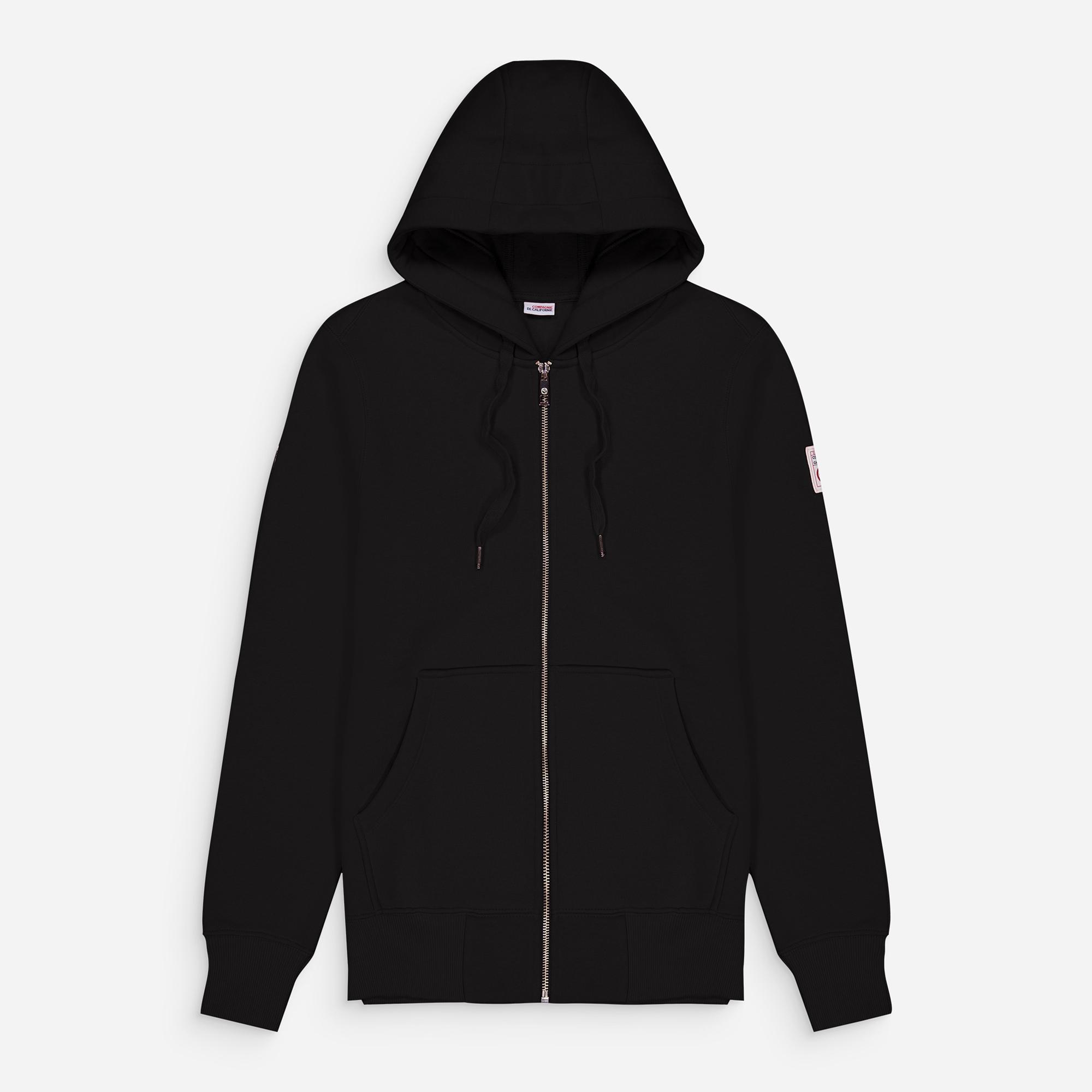 new cupertino hoodie zip black 1